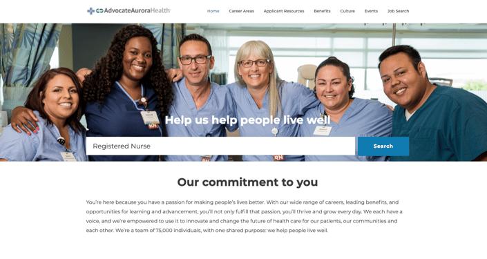 Advocate Aurora Health career site banner
