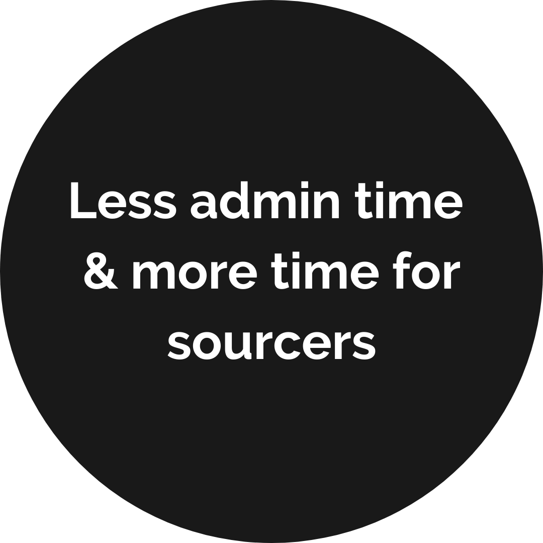 Less admin time & more time for sourcers