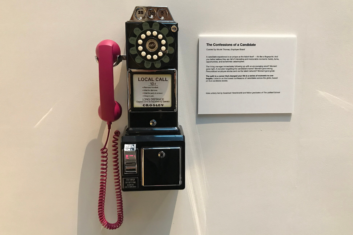 Confessions of a candidate payphone at the Moments That Matter exhibit in San Francisco