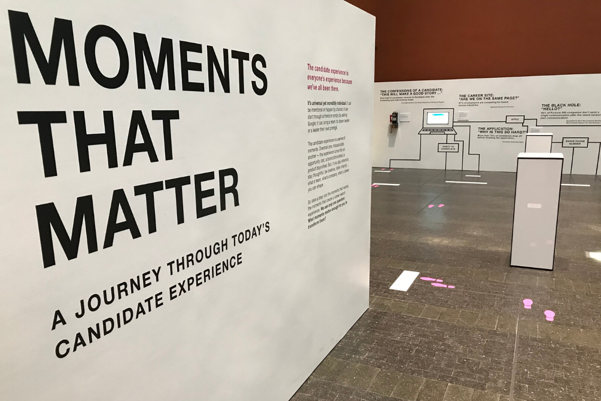 Moments That Matter exhibit in San Francisco that debuted at Talent Acquisition Week